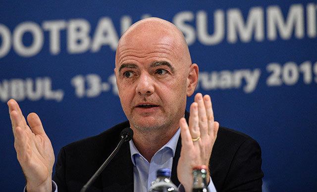 Uluslararası Futbol Federasyonları Birliği (FIFA) Başkanı Gianni Infantino,
