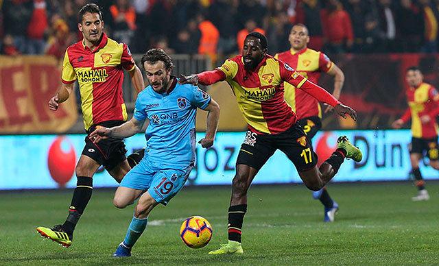 Trabzonspor, ligin ikinci yarısında da aynı rakipleriyle karşılaştığı 6 haftalık bölümde eş sayıda galibiyet, mağlubiyet ve beraberlik alarak yine 7 puan elde etti.