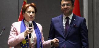 """İYİ Parti Genel Başkanı Meral Akşener, 31 Mart yerel seçimiyle ilgili, """"Bu, bir belediye seçimidir. Muhtar, belediye başkanı, belediye meclis üyeleri seçeceksiniz. Sakın ola ki tepedekilerin kavgasına, gürültüsüne aldırmayın."""