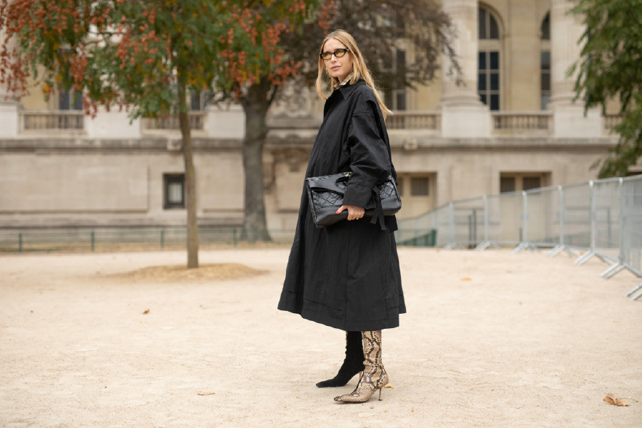 PARIS, FRANCE - OCTOBER 02: A guest is seen on the street during Paris Fashion Week SS19 wearing Chanel on October 2, 2018 in Paris, France. (Photo by Matthew Sperzel/Getty Images)
