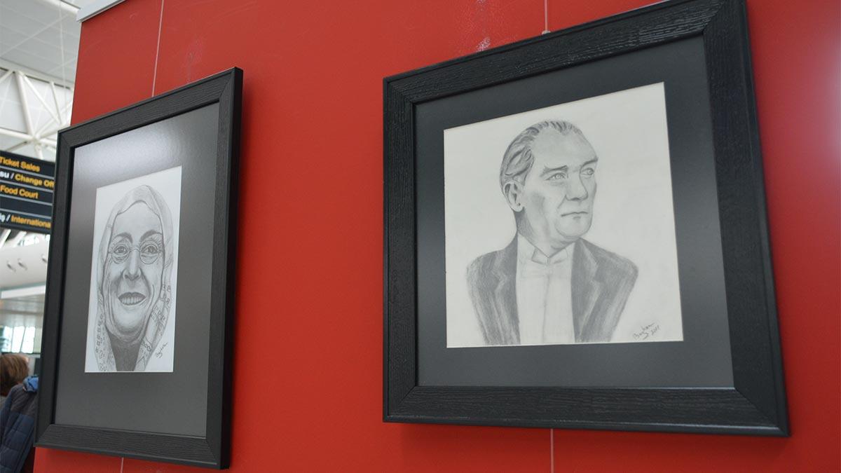 Zübeyde Hanım Çankaya Evi karakalem kursu resim sergisi